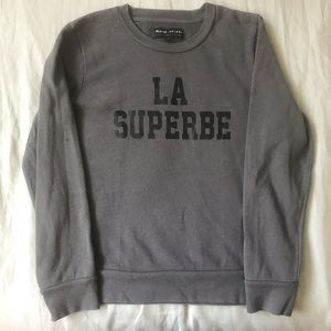 "Madewell x Sezane ""La Superbe"" sweatshirt in grey"